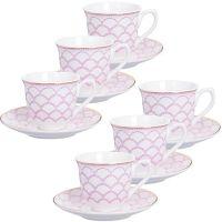 Кофейный сервиз розового цвета 80 мл Lorain, 26436N2