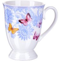 Кружка Loraine «Бабочка» 330 мл фарфоровая 27878