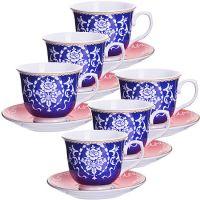 Чайный сервиз 12 предметов из керамики 220 мл LORAINE, 27885