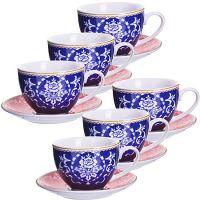 Чайный сервиз 12 предметов из керамики 220 мл LORAINE, 27888
