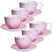 Чайный сервиз 12 предметов из керамики 220 мл LORAINE, 27889