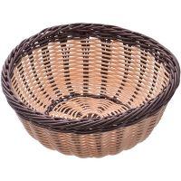 Корзина плетёная Mayer&Boch 24x10,4 см материал пластик цвет коричневый 28256