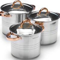 Набор посуды Mayer&Boch 6 предметов стального цвета 27549