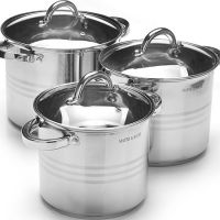 Набор посуды Mayer&Boch 6 предметов 5,3 л, 6,8 л, 8,6 л с крышками 27552