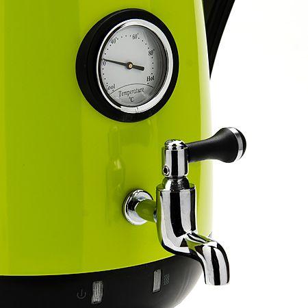 Самовар ZIMBER 3,2 л, заварник 800 мл 2300 Вт цвет черный, салатневый 10929
