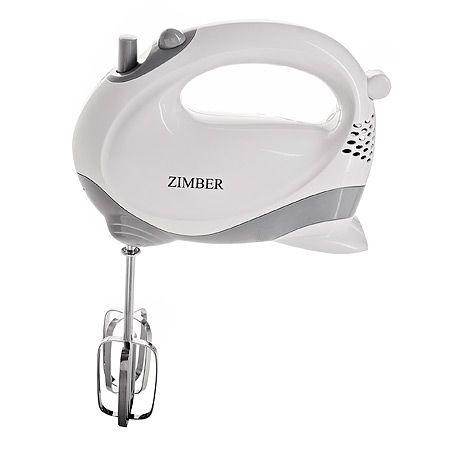 Миксер ZIMBER 100 Вт 5 скоростей с ручкой цвет белый 11093
