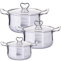 Набор посуды Mayer&Boch 6 предметов из нержавеющей стали 1,75 л, 2,5 л, 3,4 л 29353
