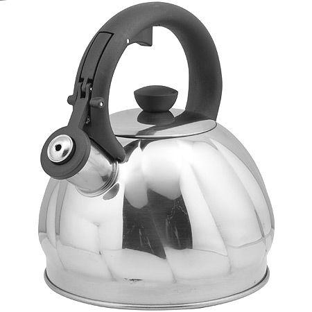 Чайник 2 л серебристый свистком нержавеющий корпус Mayer&Boch, 25895