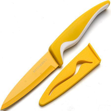 Нож Mayer&Boch 10 см с чехлом в упаковке цвет желтый 24090