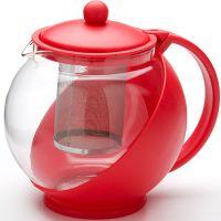 Заварочный чайник Mayer&Boch 750 мл с ситечком красного цвета 25738