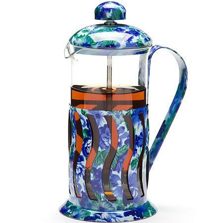 Френч-пресс, 35 л синего цвета, стеклянная крышка Mayer&Boch, 20028N1