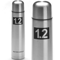 Термос 1,2л из нержавеющей стали, металлическая колба, Mayer&Boch, 27610
