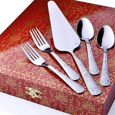 Набор десертных приборов Mayer&Boch 13 предметов цвет хром 26464
