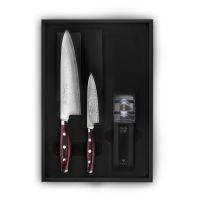 Набор из 2-х кухонных ножей с точилкой YAXELL GOU 161, YA37100-003