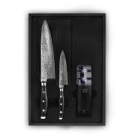 Набор кухонных ножей YAXELL GOU 2 шт с точилкой YA37000-003