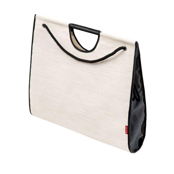 Сумка-шоппер Large 50x16x45 см белая с черным SB-042