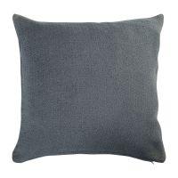 Подушка декоративная из хлопка фактурного плетения темно-серого цвета из коллекции Essential, 45х45 TK19-CU0015