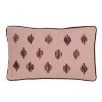 Подушка декоративная из хлопка цвета пыльной розы с контрастным кантом из коллекции Ethnic, 30х50 см TK19-CU0009