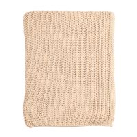 Плед вязаный бежевого цвета Essential, 130х180 см TK18-TH0007