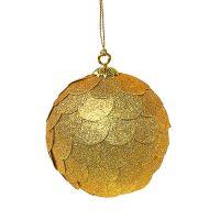 Шар новогодний декоративный Paper ball, золотой en_ny0070