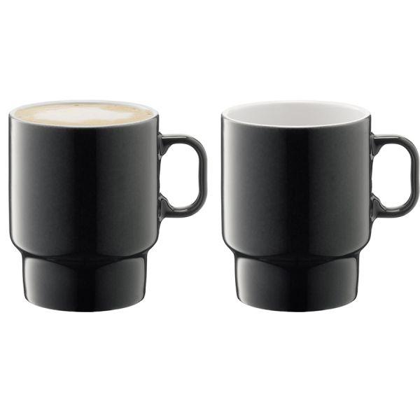 Набор из 2 чашек для капучино Utility 380 мл серый P276-14-523