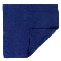 Салфетка сервировочная из умягченного льна темно-синего цвета, 45х45 см TK18-NA0010