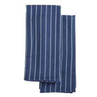 Набор кухонных полотенец сине-фиолетового цвета из хлопка из коллекции Essential, 50х70 см TK19-TT0006