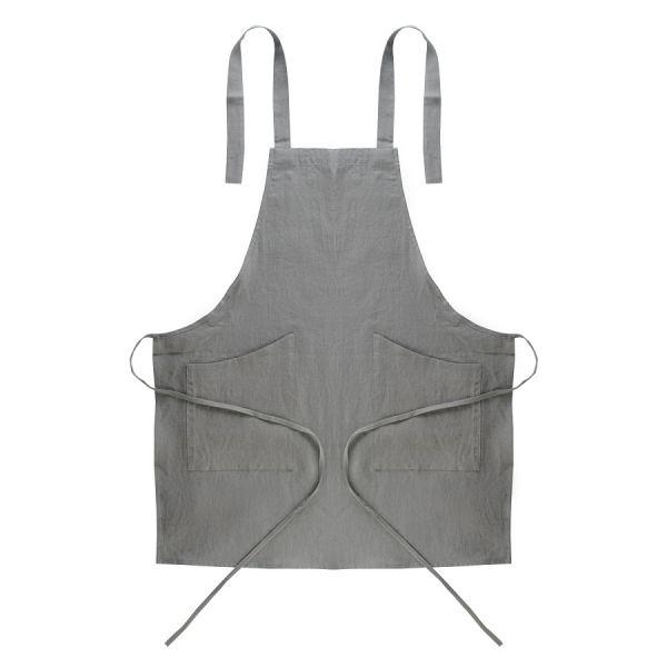 Фартук из умягченного льна серого цвета Essential, 70х82 см TK18-AP0005