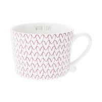 Кружка Bastion Collections White Нeart Pattern Red RJ/CUP 015 RED