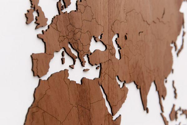 Карта-пазл Wall Decoration Exclusive, 280х170 см, африканское сапеле 19-14