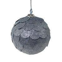 Шар новогодний декоративный Paper ball, серебрянный en_ny0073