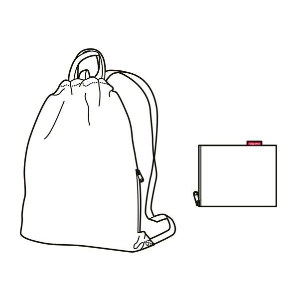 Рюкзак складной Mini maxi sacpack paisley ruby AU3067