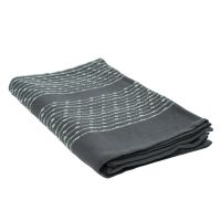 Покрывало из хлопка серого цвета с декоративной строчкой из коллекции Ethnic, 230х250 см TK19-BS0010