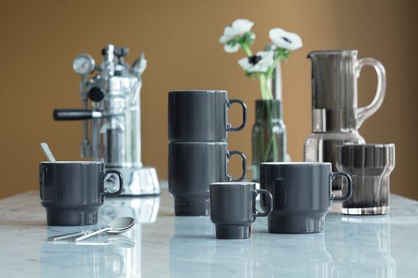 Набор из 2 чашек для эспрессо Utility 70 мл серый P276-03-523