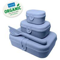 Набор из 3 ланч-боксов и столовых приборов PASCAL Organic синий 3168671