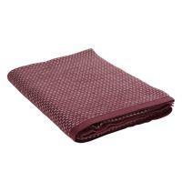 Плед из хлопка фактурной вязки бордового цвета из коллекции Essential, 130х180 см TK19-TH0005
