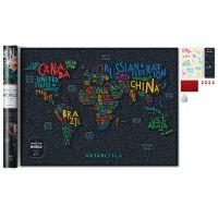 Карта Travel Map Letters World 4820191130425