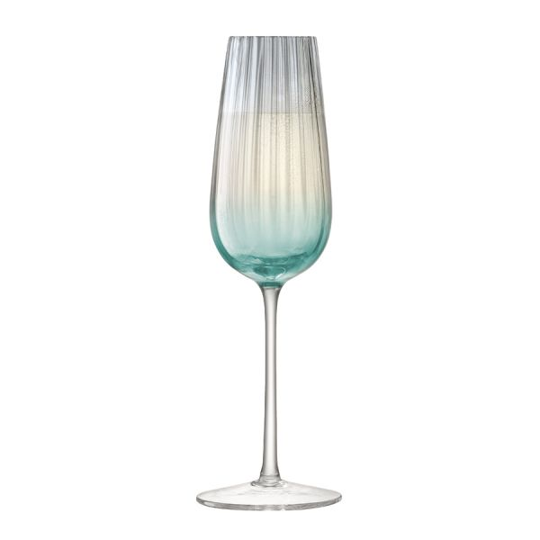 Набор из 2 бокалов-флейт для шампанского Dusk 250 мл зелёный-серый G1332-09-151