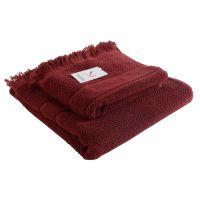 Полотенце банное с декоративной бахромой цвет бордовый TK18-BT0030