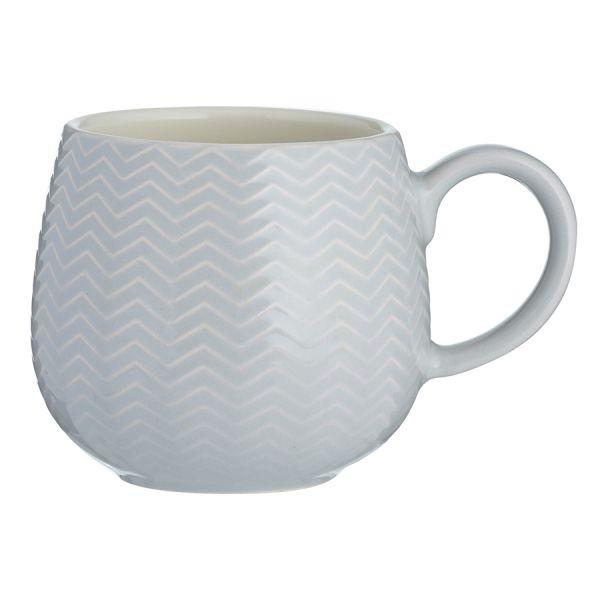 Чашка Embossed 350 мл серая 2002.104