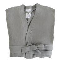 Халат из умягченного льна серого цвета Essential, размер M TK18-BR0004