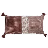 Подушка декоративная бордового цвета крупной вязки из коллекции Ethnic, 30х60 см TK19-CU0001