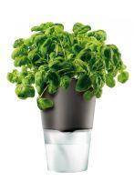 Горшок для цветов с функцией естественного полива 12,5 см серый 568104