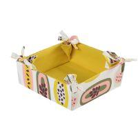 Корзинка для хлеба из хлопка горчичного цвета с принтом Passion Fruit из коллекции Wild, 35х35 см TK19-BB0001