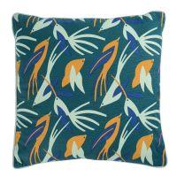 Чехол для подушки зеленого цвета с дизайнерским принтом Birds of Nile из коллекции Wild, 45х45 см TK19-CC0003