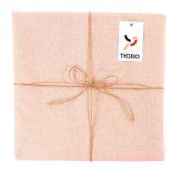 Скатерть на стол из умягченного льна с декоративной обработкой цвета пыльной розы TK18-TС0015