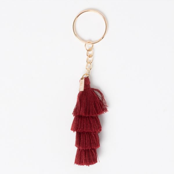 Брелок для ключей Tassels красно-коричневый DYTASSEBR