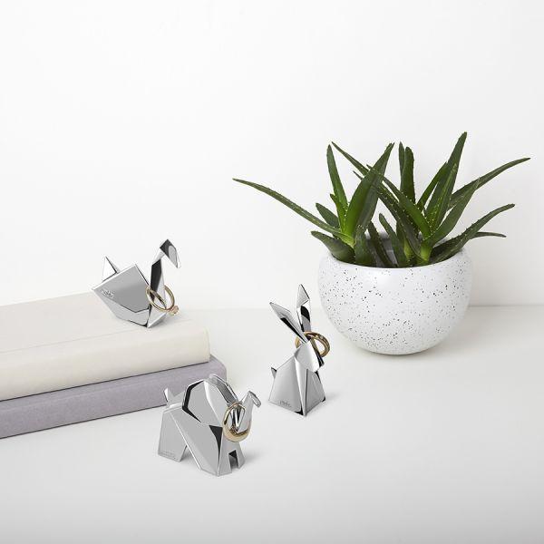 Подставки для колец Origami 3 шт цвет хром 1010123-158