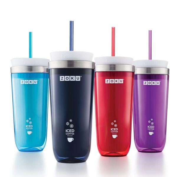 Стакан для приготовления кофе со льдом Iced coffee maker фиолетовый ZK121-PU