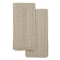 Набор вафельных кухонных полотенец бежевого цвета из умягченного хлопка Essential, 50х70 см TK19-TT0004